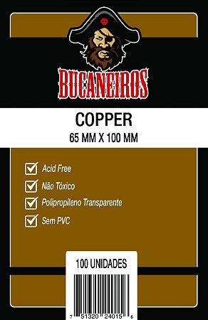 SLEEVES BUCANEIROS COPPER 65X100 - 100 UNIDADES