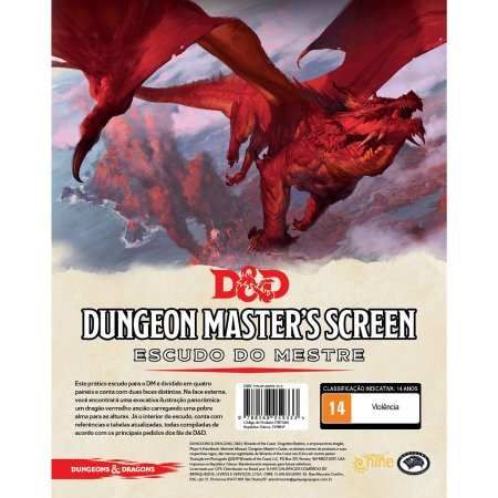 DUNGEONS & DRAGONS 5E: DUNGEON MASTERS SCREEN - ESCUDO DO MESTRE