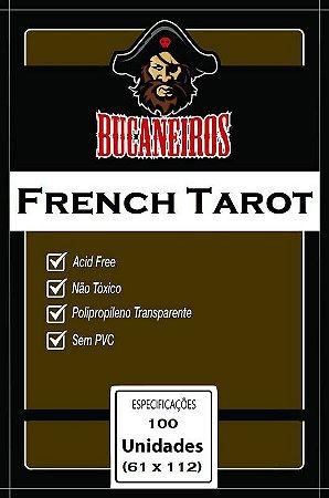 SLEEVES BUCANEIROS FRENCH TAROT 61X112 - 100 UNIDADES
