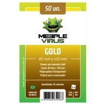 SLEEVES MEEPLE VIRUS GOLD (80X120) - 50 UNIDADES
