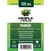 SLEEVES MEEPLE VIRUS PADRÃO (63,5X88) - 100 UNIDADES
