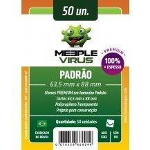 SLEEVES MEEPLE VIRUS PADRÃO PREMIUM (63,5X88) - 50 UNIDADES