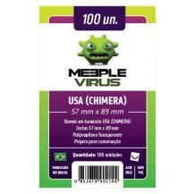 SLEEVES MEEPLE VIRUS USA CHIMERA (57X89) - 100 UNIDADES