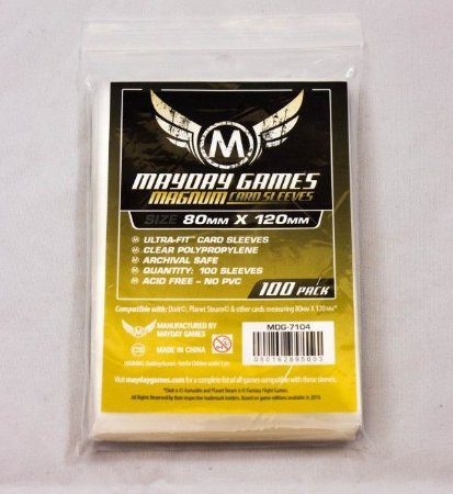 """SLEEVES MAYDAY MAGNUM ULTRA-FIT """"DIXIT""""  STANDARD (80X120) - 100 UNIDADES"""