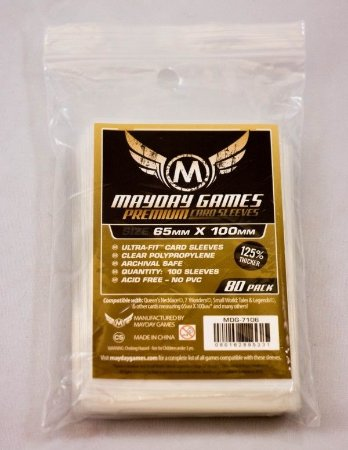 "SLEEVES MAYDAY MAGNUM ULTRA-FIT ""7 WONDERS""  PREMIUM (65X100) - 80 UNIDADES"