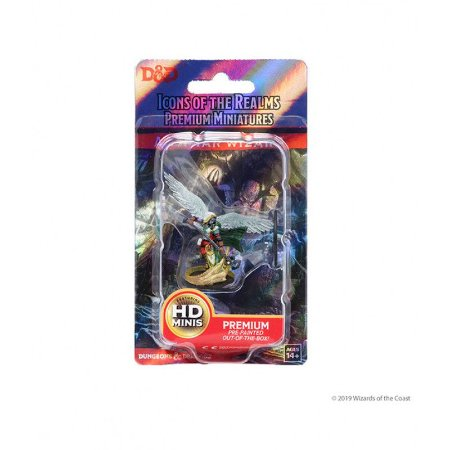 D&D – ICONS OF THE REALMS – AASIMAR FEMALE WIZARD - PREMIUM FIGURES (EM INGLÊS)