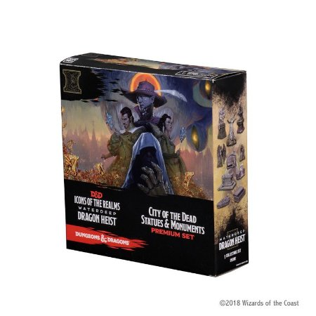 D&D: ICONS OF THE REALMS – DRAGON HEIST – CITY OF THE DEAD (CASE INCENTIVE) (EM INGLÊS)