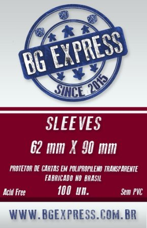 SLEEVES BG EXPRESS 62X90 - 100 UNIDADES