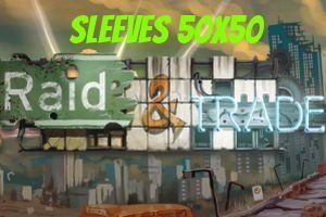 SLEEVES 50x50 PARA RAID & TRADE - 100 UNIDADES