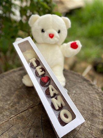 Caixa Rosa para 6 doces Com Visor - 10 unid.