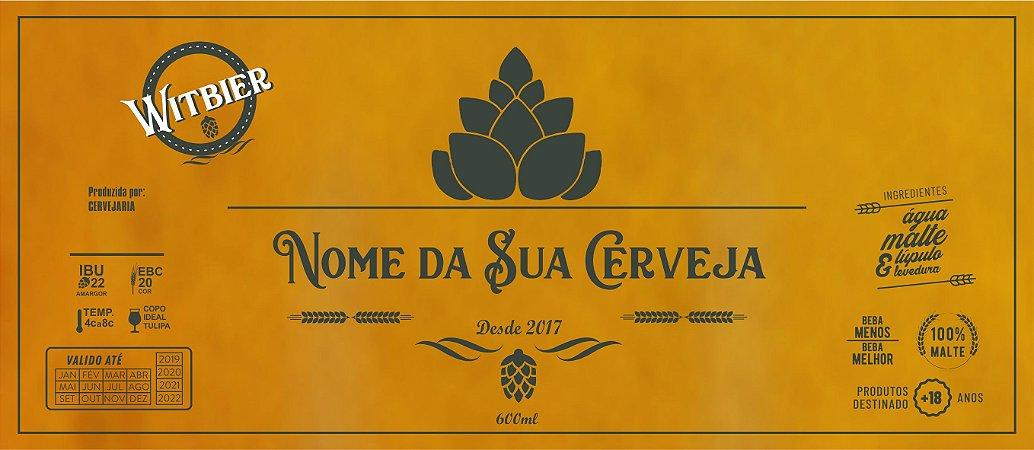 ARTE para Rótulo de Cerveja Artesanal - VETORIZADO