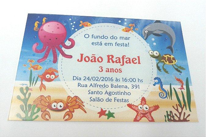 Convite Fundo Do Mar 2