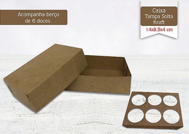 Caixa Kraft 6 Doces Sem Visor - 10 unid.