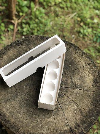 Caixa Branca 5 Doces Com Visor - 10 unid.