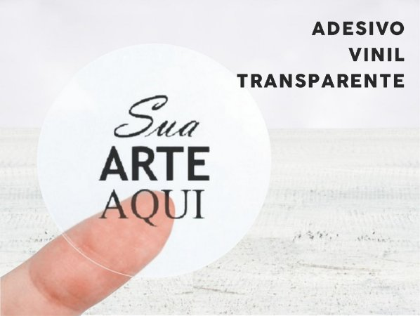 Adesivo Vinil Transparente - 1 Folha