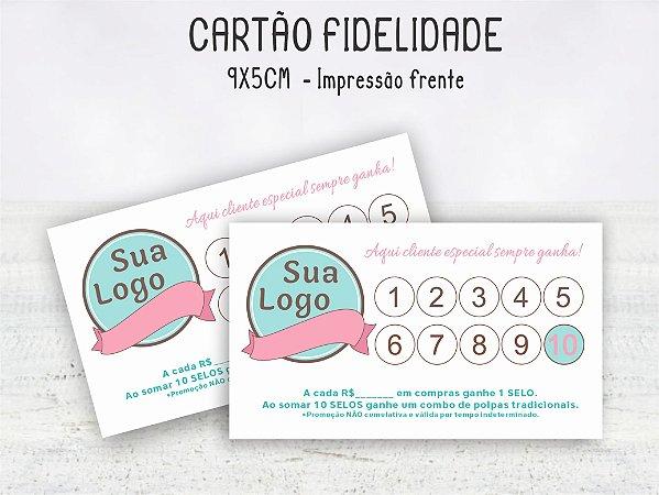 Cartão Fidelidade 9x5cm  Frente - 100 unid.