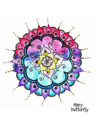 Pôster Mandala Flor degradê