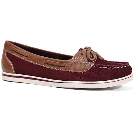 Sapato Bottero 24740 Dockside Feminino Vinho Conhaque
