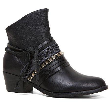 Bota Tanara T0308 Ankle Boot Feminina Preto