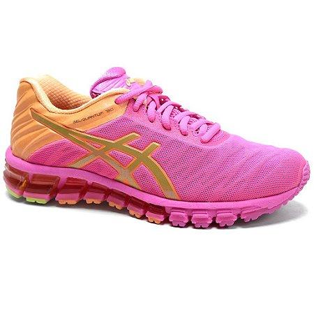 Tênis Asics Quantum 180 Feminino Pink Gold Orange