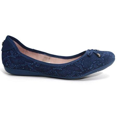 Sapatilha Bottero 249221 Livia Feminina Couro Nobuck Azul jeans