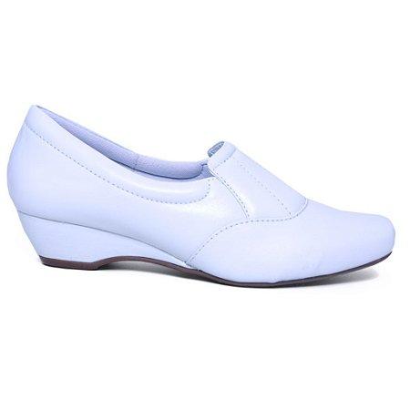 Sapato Feminino Neftali 3902 Anabela Baixo Branco