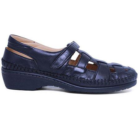 Sapato Feminino Gasparini G6019 Couro Preto mestiço