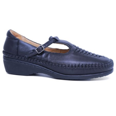 Sapato Feminino Gasparini G6018 Couro Preto Mestiço