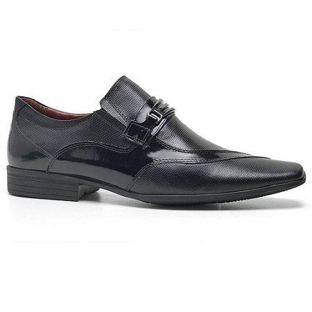 Sapato Calvest 3030C219 Social Masculino Preto Verniz