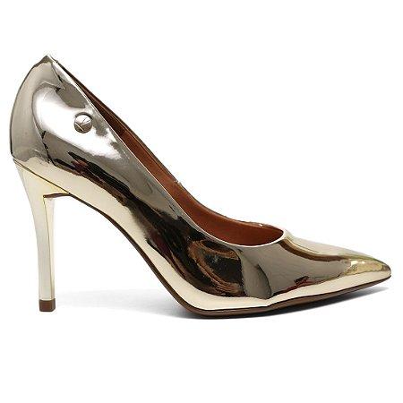 Sapato Scarpin Vizzano 1230300 Feminino Metal Glamour Dourado