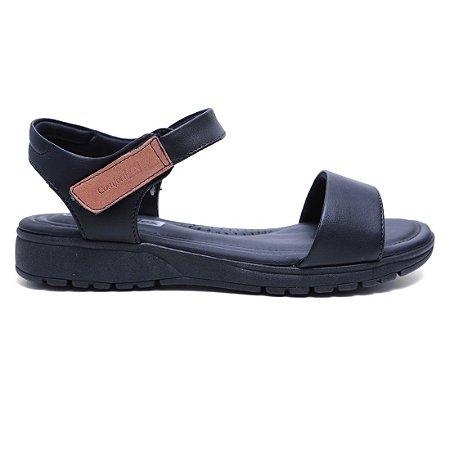 Sandália Comfortflex 16-51405 Papete Velcro Feminina Preto