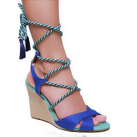 Sandália Cecconello 977001 Feminina Azul Verde