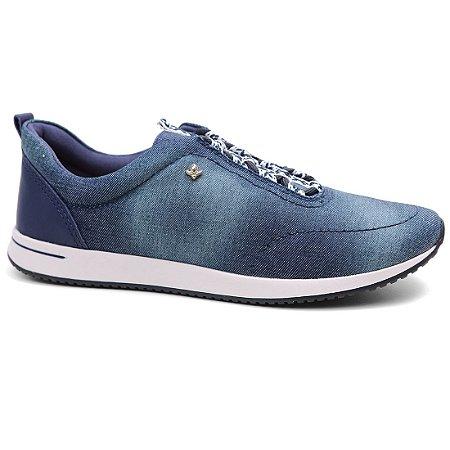 Tênis Cravo & Canela 97623 Casual Feminino Azul Jeans