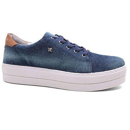 Tênis Cravo & Canela 148901 Casual Feminino Azul Jeans