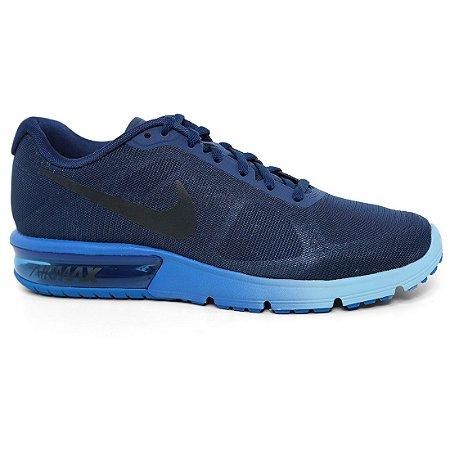Tênis Nike Air Max Sequent 719912 Masculino Blue Dark Royal