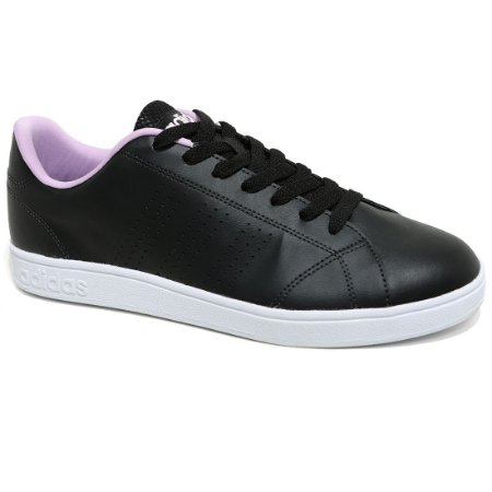 Tênis Adidas Advantage Clean B74576 Feminino Black Lilás