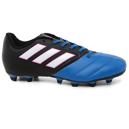 Chuteira Adidas Ace 17.4 FxG BA9688 Black Blue White Pink