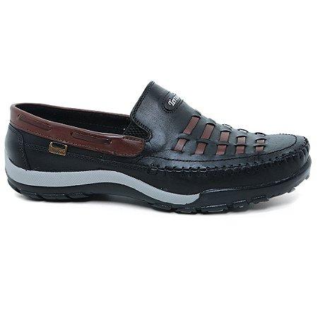 Sapato Tertuliano Mocassim 058 Masculino Preto Tabaco