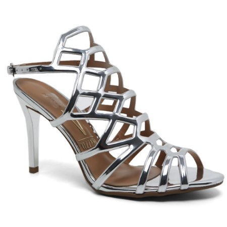 Sandália Vizzano 6306.300 Feminina Metal Glamour Prata