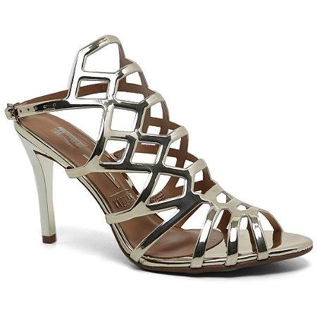 Sandália Vizzano 6306.300 Feminina Metal Glamour Dourado