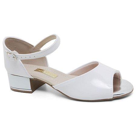7fdb1f7582 Sandália Molekinha 2302.306 Menina Verniz Branco - Calçados ...