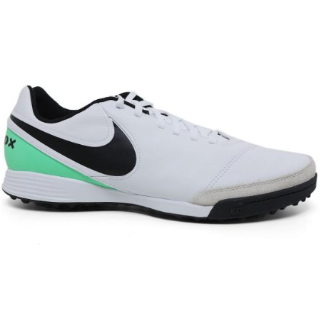 Chuteira Nike Tiempo Genio II Leather TF 819216 Society White Black Green