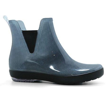 Bota Galocha Boaonda 1702 Holli Estampada Azul Jeans