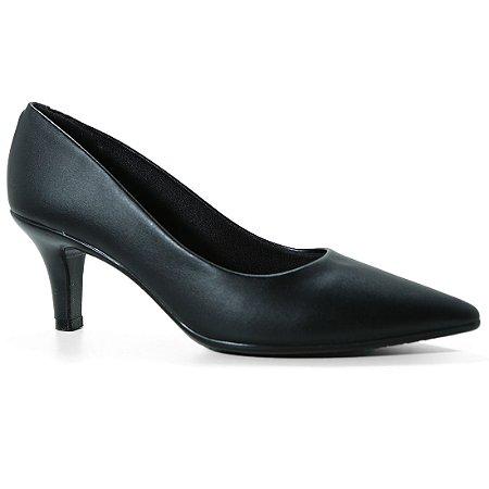 Sapato Beira Rio 4163.100 Scarpin Feminino Salto Baixo Preto