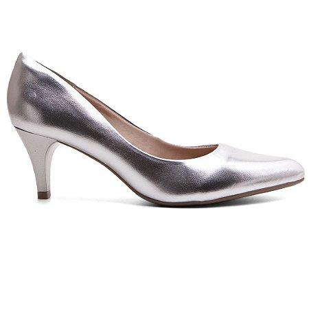398e85ee3 Sapato Scarpin Bebecê 6810-061 Feminino Pelica Metalico Salto Médio ...