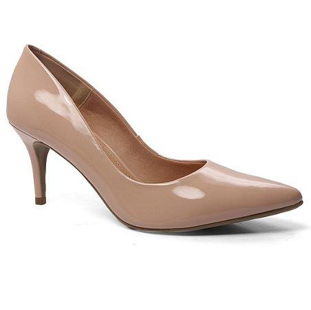 Sapato Scarpin Off Line 5199.20815 Feminina Bico Fino Verniz