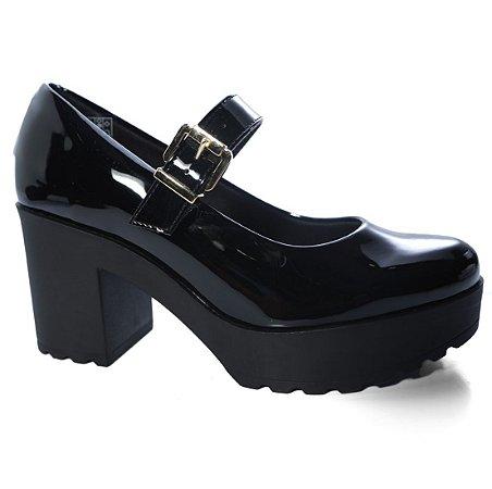 Sapato Moleca 5647.100 Abotinado Boneca Salto Tratorado