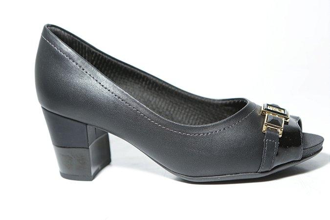 ee577568e Sapato Peep Toe Piccadilly 364004 Preto - Calçados Femininos ...