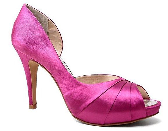 Peep Toe Spaço Criativo 700/124 Feminino Cetim Pink