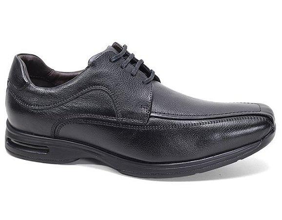 Sapato Democrata Air Stretch Spot 448022 Social Masculino Couro Preto
